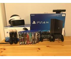 Sony PlayStation 4 Pro + 1TB + 2 controls + 4 games + PS Camera