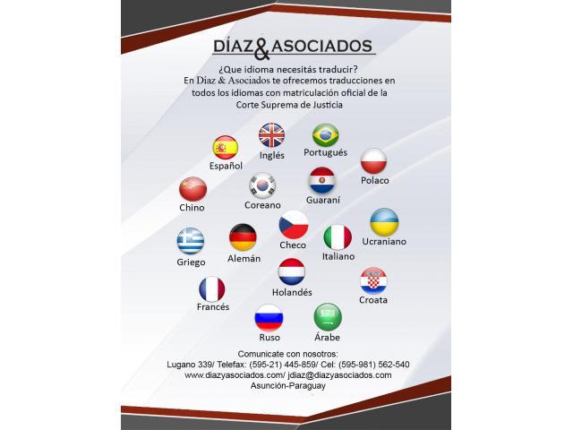 Traductores públicos matriculados - inglés-español-portugués y otros
