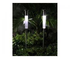 Lámparas solares - Lámpara Solar de varilla de acero inoxidable (altura 35-65 cm) en Paraguay