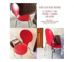 Vendo sillas rojas
