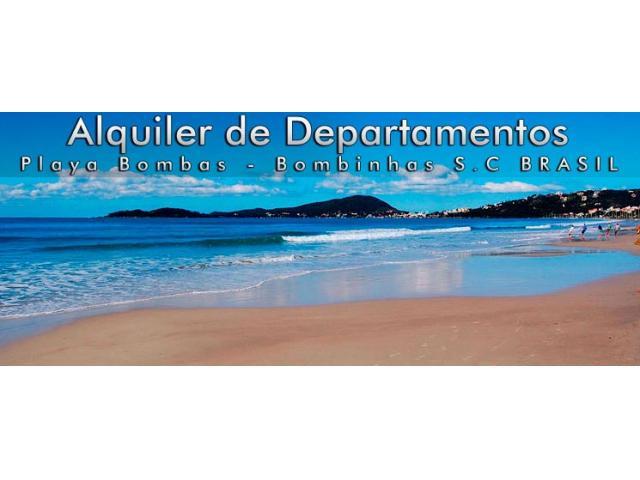 DEPARTAMENTOS EN PLAYAS DE BRASIL