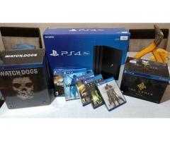 Vendo Sony PlayStation 4 Pro + 1TB + 2 controls + 4 games + PS Camera