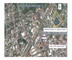Vendo 10.000 m2 en el centro de Santa Rita - Alto Parana