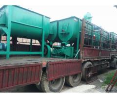 Mezcladora horizontal 250 kg por hora 4kw