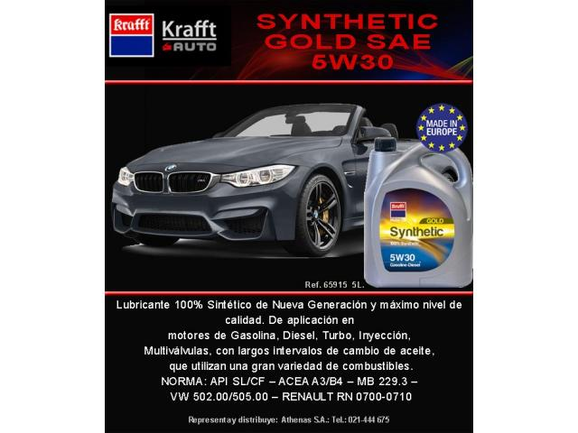 LUBRICANTE SYNTHETIC GOLD SAE 5W30