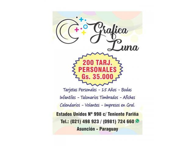 IMPRENTA - GRÁFICA LUNA - IMPRESIONES EN GRAL.!